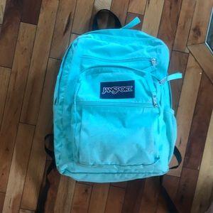 Mint green jansport backpack
